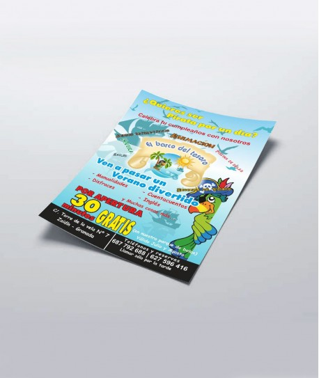 500 flyers A5 colores 4/4